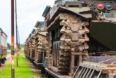 Militarni zbiorniki. Zdjęcia Stock