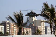 Militarny Śmigłowcowy lądowanie Na Durban Nabrzeżnym Fotografia Royalty Free