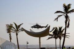 Militarny Śmigłowcowy lądowanie na Nabrzeżnym Zdjęcie Stock