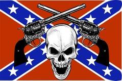 Militarny żakiet ręki z czaszką, grunge Projekt koszulki royalty ilustracja
