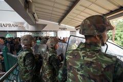 Militarny żołnierz ściany bloking Obraz Royalty Free