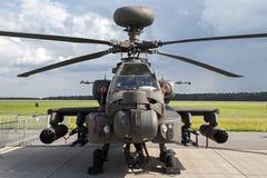 Militarny AH-64 śmigłowiec szturmowy Obraz Royalty Free
