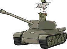 Militarny bohater royalty ilustracja