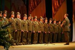 Militarny chór Rosyjski wojsko Zdjęcia Royalty Free