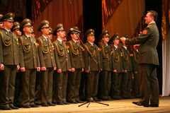 Militarny chór Rosyjski wojsko Obrazy Stock