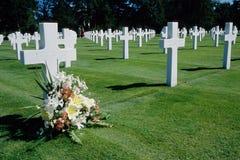 Militarny Cmentarniany Colleville Fotografia Royalty Free