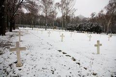 Militarny cmentarz obrazy stock