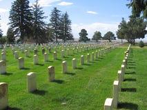 Militarny cmentarz Zdjęcia Stock