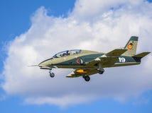 Militarny dżetowy samolot Obrazy Royalty Free