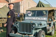 Militarny dżip brzeg patrol Zdjęcie Stock