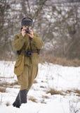 Militarny dziennikarz Fotografia Royalty Free
