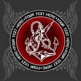Militarny emblemat - wektorowa ilustracja Zdjęcie Stock