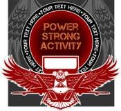Militarny emblemat - wektorowa ilustracja Obraz Royalty Free