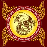Militarny emblemat - wektorowa ilustracja Obrazy Royalty Free