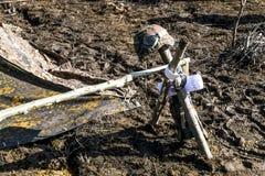 Militarny hełm Wehrmacht żołnierz na patriotycznym Fotografia Royalty Free