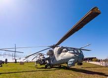 Militarny helikopter Mi-24 Zdjęcie Royalty Free