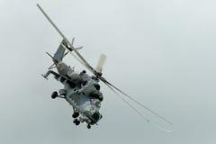 Militarny helikopter Mi-24 Zdjęcia Stock