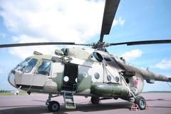 Militarny helikopter w lotnisku Obrazy Royalty Free