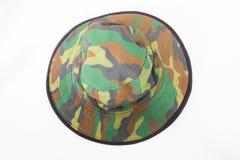 Militarny kapeluszu wzór Obraz Royalty Free