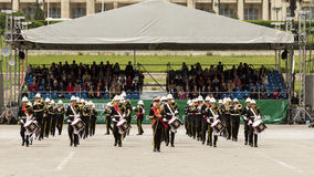 Militarny Królewski zespół od Zjednoczone Królestwo Fotografia Royalty Free