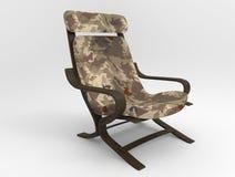 Militarny krzesło na tle Zdjęcie Stock