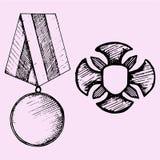 Militarny medal Zdjęcia Stock
