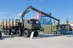 Militarny mobilny tartaczny kompleks Obrazy Royalty Free