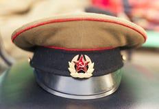 Militarny nakrętki USSR żołnierz Obrazy Royalty Free