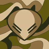 Militarny obcy symbol royalty ilustracja