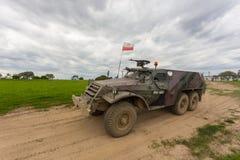 Militarny opancerzony samochód, waga lekka toczył, Miedzyrzecz, Polska Fotografia Stock