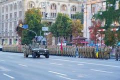 Militarny parady repetitiion Zdjęcia Stock