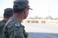 Militarny podpułkownik z dwa gwiazdami Zdjęcie Royalty Free