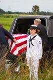 Militarny pogrzeb Obraz Stock