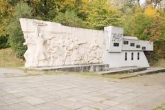 Militarny pomnik przy fortem liczba pięć Obraz Royalty Free