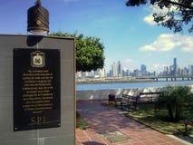 Militarny pomnik w Panamskim mieście Zdjęcia Royalty Free
