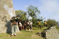militarny reenactment Zdjęcie Royalty Free