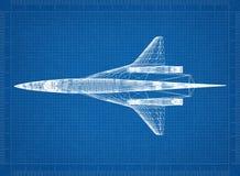 Militarny samolotu szturmowego architekta projekt fotografia royalty free