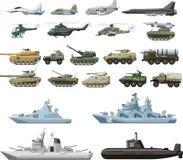Militarny set Zdjęcia Royalty Free