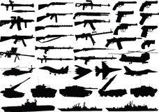 militarny set royalty ilustracja