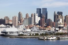 Militarny statek W Manhattan Fotografia Stock