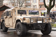 Militarny transporter - humvee Fotografia Royalty Free