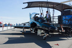 Militarny trenera samolotu jastrzębia 128 jastrzębia T2 Zdjęcia Stock