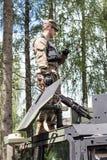 Militarny wyposażenie i żołnierze w dragon przejażdżce II, 2016 Zdjęcia Royalty Free