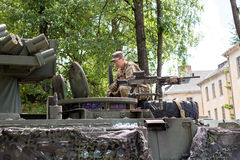 Militarny wyposażenie i żołnierze w dragon przejażdżce II Obrazy Stock