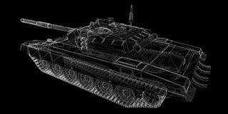 Militarny zbiornik ilustracja wektor