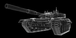 Militarny zbiornik ilustracji