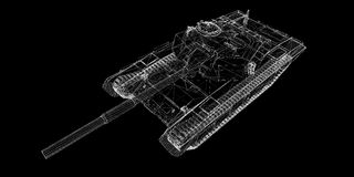 Militarny zbiornik royalty ilustracja