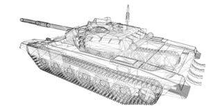 Militarny zbiornik Zdjęcie Stock