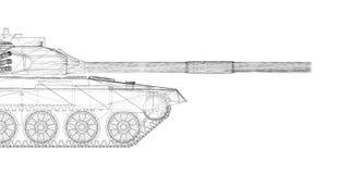 Militarny zbiornik Zdjęcia Stock