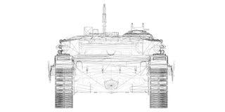 Militarny zbiornik Obraz Stock